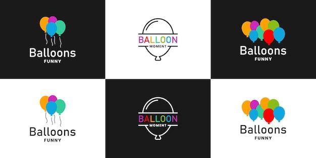 Grappig moment logo ontwerp feestballonnen