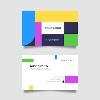 Grappig ontwerp voor sjabloon voor visitekaartjes van bedrijf