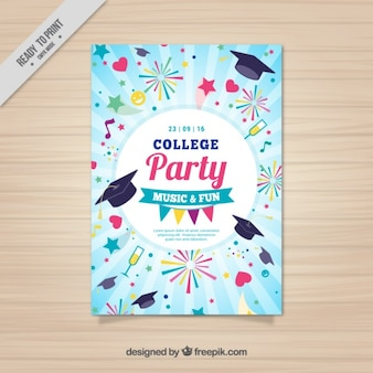 Grappig poster voor college party