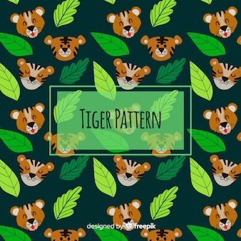 Grappig tijgerpatroon