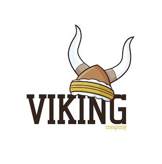 Grappig viking-bedrijfslogo-sjabloon in cartoonstijl