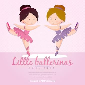 Grappig weinig ballerina's