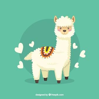 Grappige alpaca achtergrond