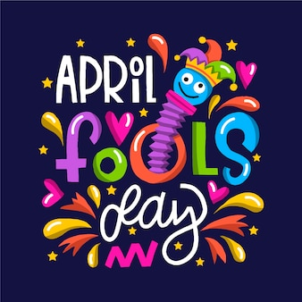 Grappige april dwaasdag en kinderachtig speelgoed
