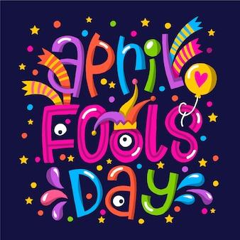 Grappige april dwazendag met kleurrijke stippen