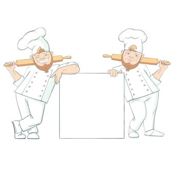 Grappige baker tekens illustratie