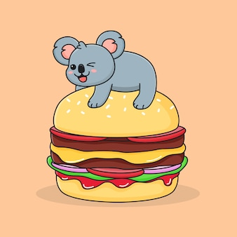 Grappige burger koala
