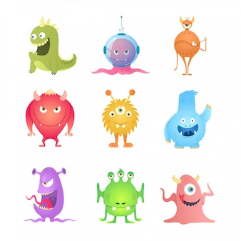 Grappige cartoon monsters.