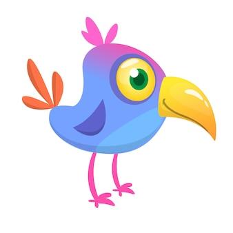Grappige cartoon vogel