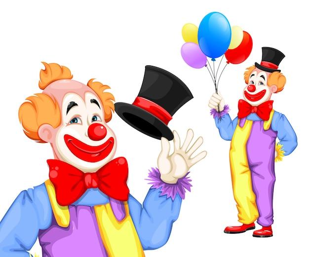 Grappige clown april fool's day. circus dag
