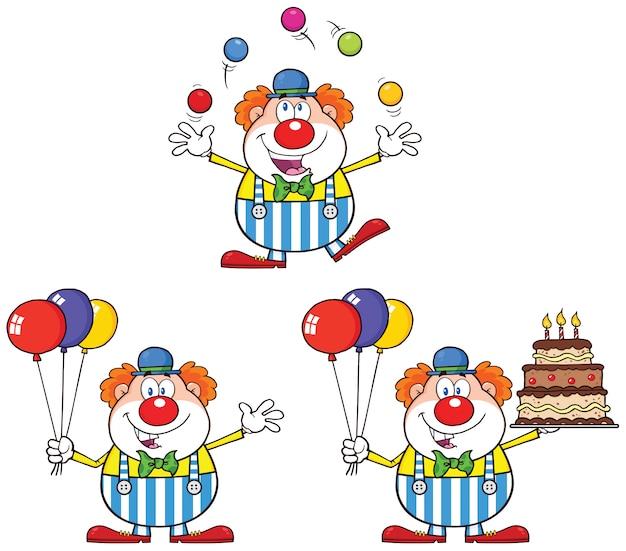 Grappige clown stripfiguur