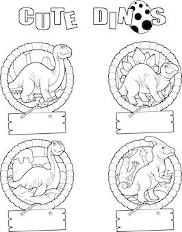 Grappige dinosaurussen