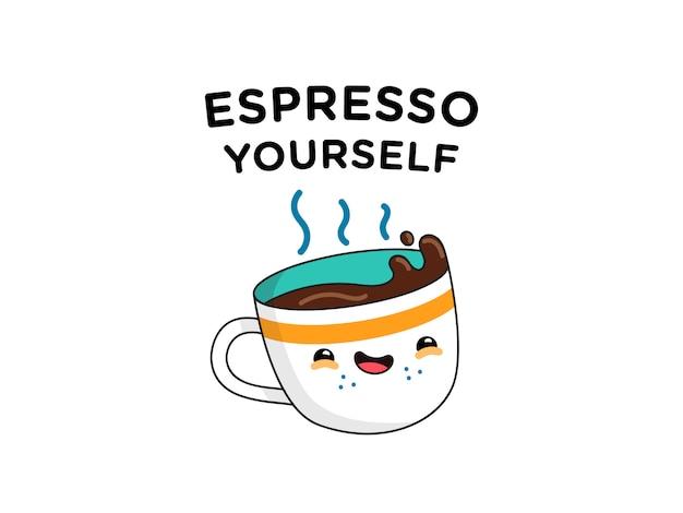 Grappige espresso woordspeling