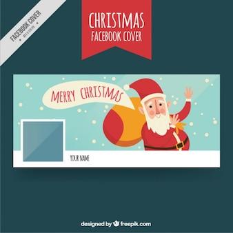 Grappige facebook omslag met santa groet