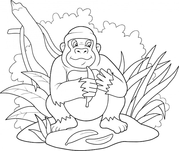 Grappige gorilla