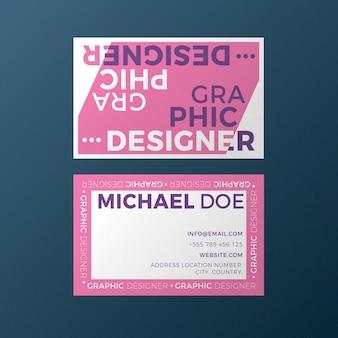 Grappige grafisch ontwerper voor visitekaartje