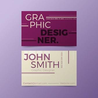Grappige grafische ontwerper visitekaartje stijl