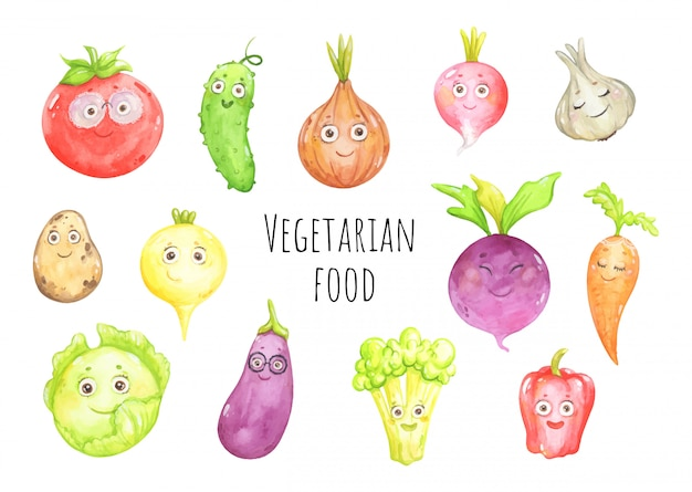 Grappige groenten en verse gewassen
