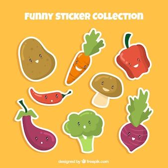 Grappige groenten stickers