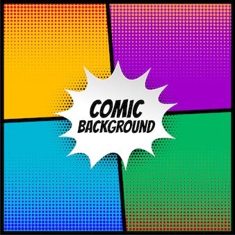 Grappige halftone achtergrond in verschillende kleuren