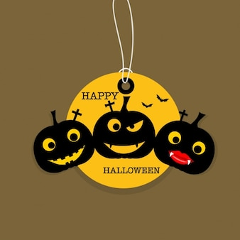 Grappige halloween pompoen achtergrond
