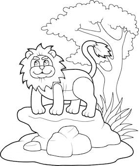 Grappige leeuw