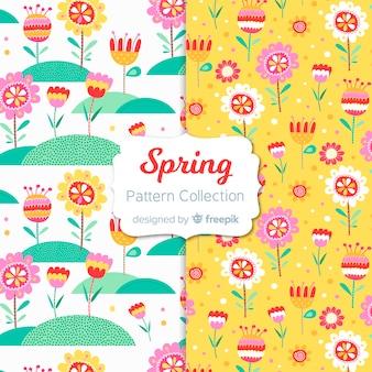 Grappige lente patroon collectie