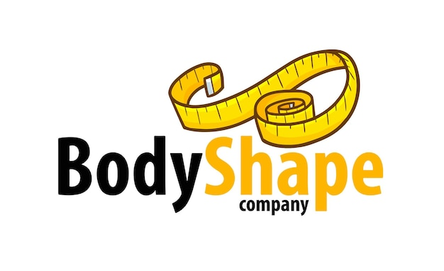 Grappige lichaamsvorm bedrijfslogo sjabloon