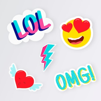 Grappige lol stickers collectie