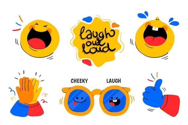 Grappige lol stickers set