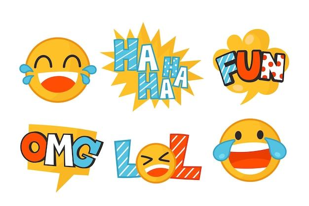 Grappige lol-stickers