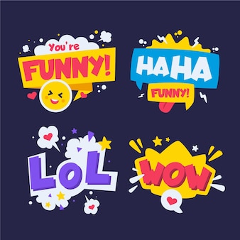 Grappige lol-stickers