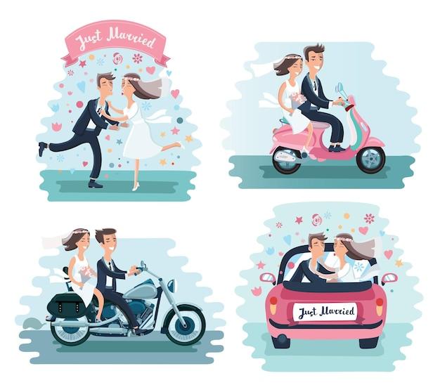 Grappige mannen bruiloft