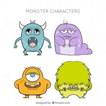 Grappige monster ontwerpset