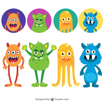 Grappige monsters avatars