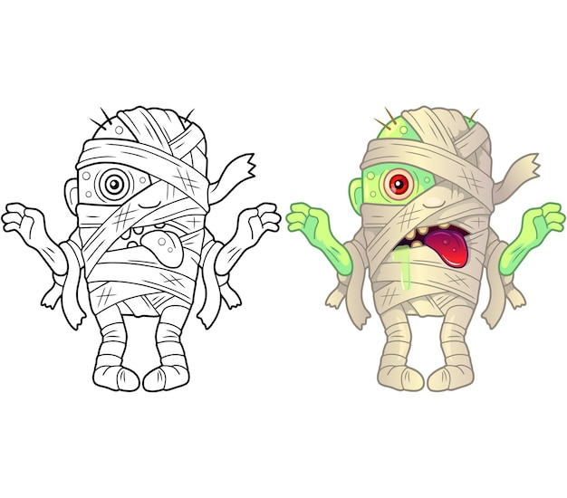Grappige mummie