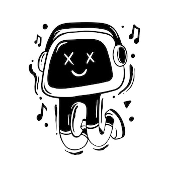 Grappige muziek doodle