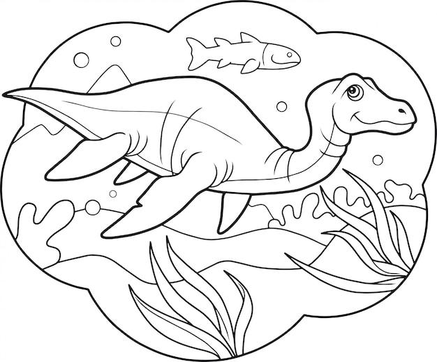 Grappige plesiosaurus