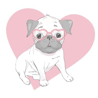 Grappige puppies van franse bulldog. vector grappige franse bulldog, schattige puppy, huisdier tekening schets illustratie