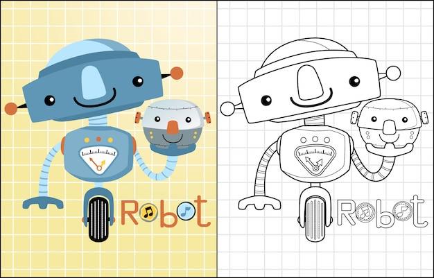 Grappige robotscartoon