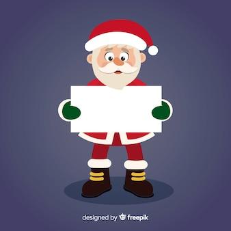Grappige santa bedrijf leeg teken