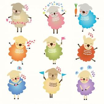 Grappige schattige schapen