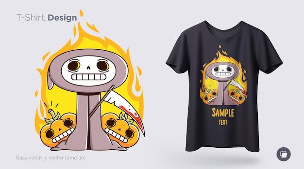 Grappige skeletillustratie. print op t-shirts, sweatshirts en souvenirs. vector