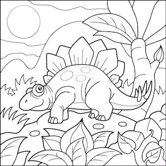 Grappige stegosaurus