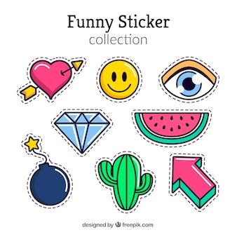 Grappige stickers met moderne stijl
