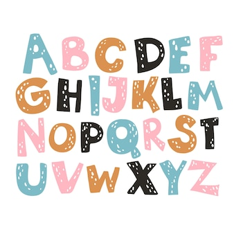 Grappige strips lettertype geïsoleerd op wit