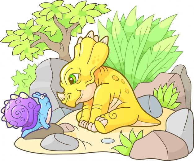 Grappige styracosaurus