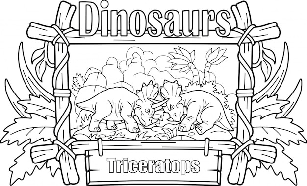 Grappige triceratops