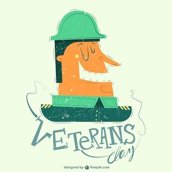 Grappige veteranen dag illustratie