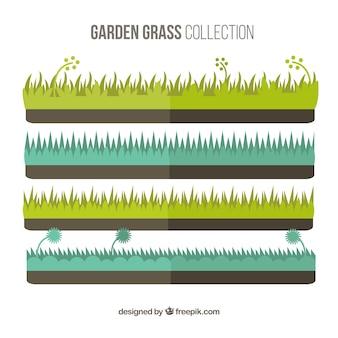 Gras collectie plat ontwerp